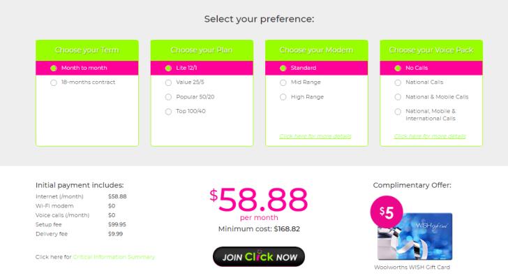 Click broadband's best nbn plans